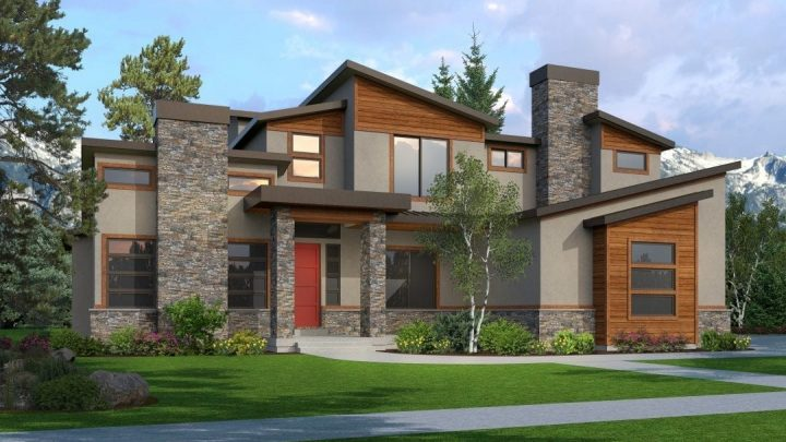 eastgate mt. modern house plan 3d rendering