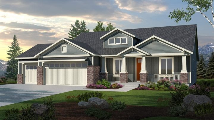 silverhawk craftsman house plan 3d rendering