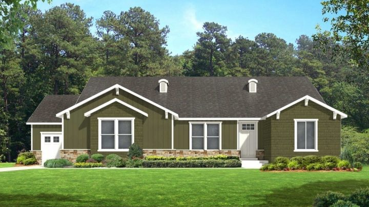 red deer craftsman house plan 3d rendering