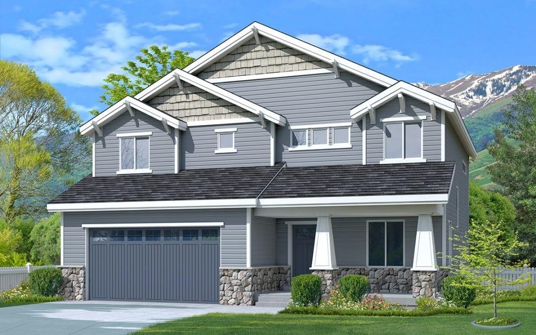 newton craftsman house plan 3d rendering
