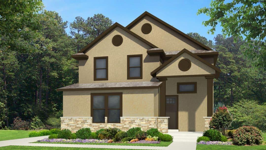 nicholas craftsman house plan 3d rendering
