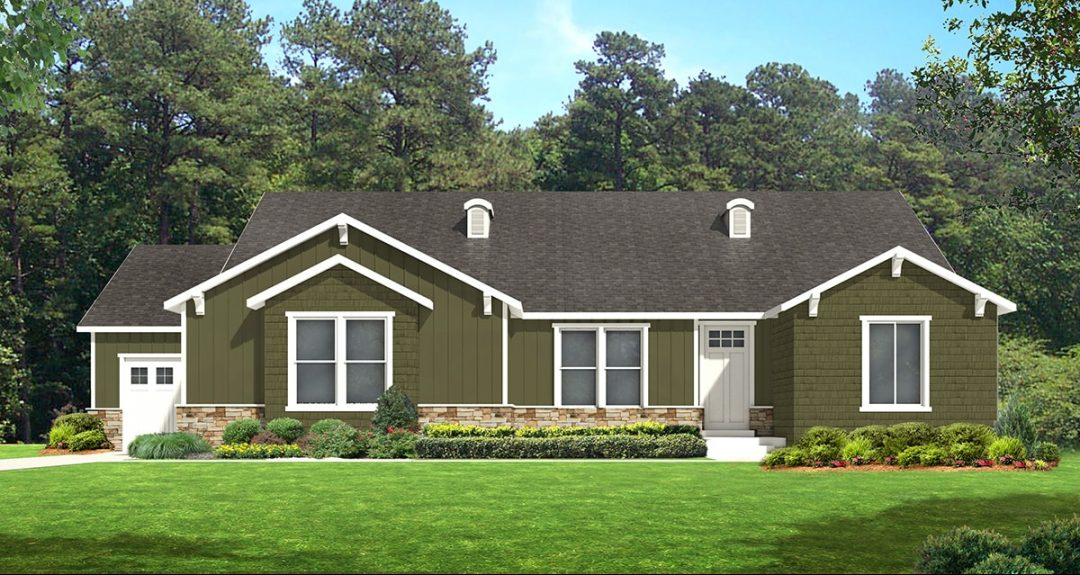 red deer craftsman house plan 3d rendering