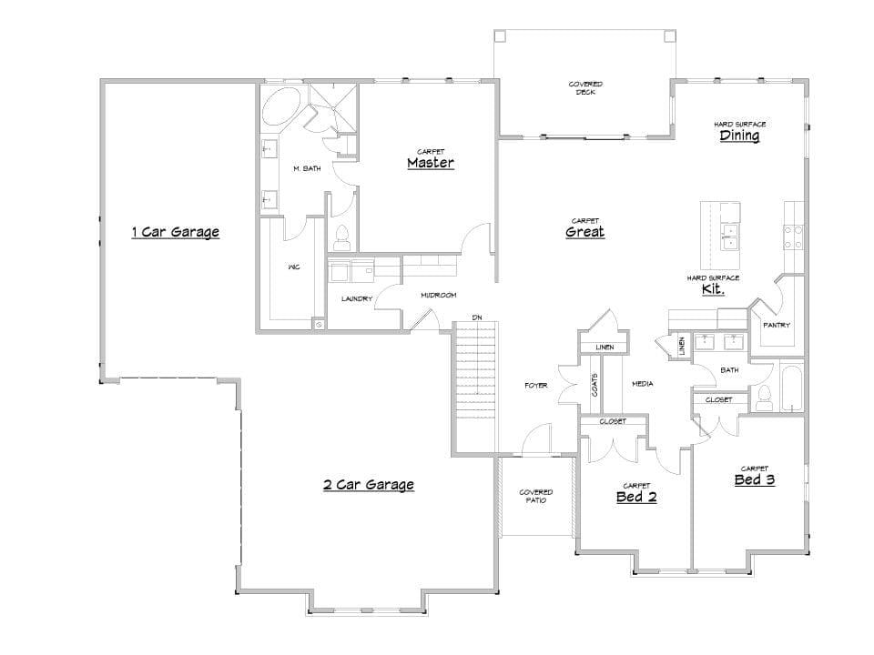 auburn house plan floor plan