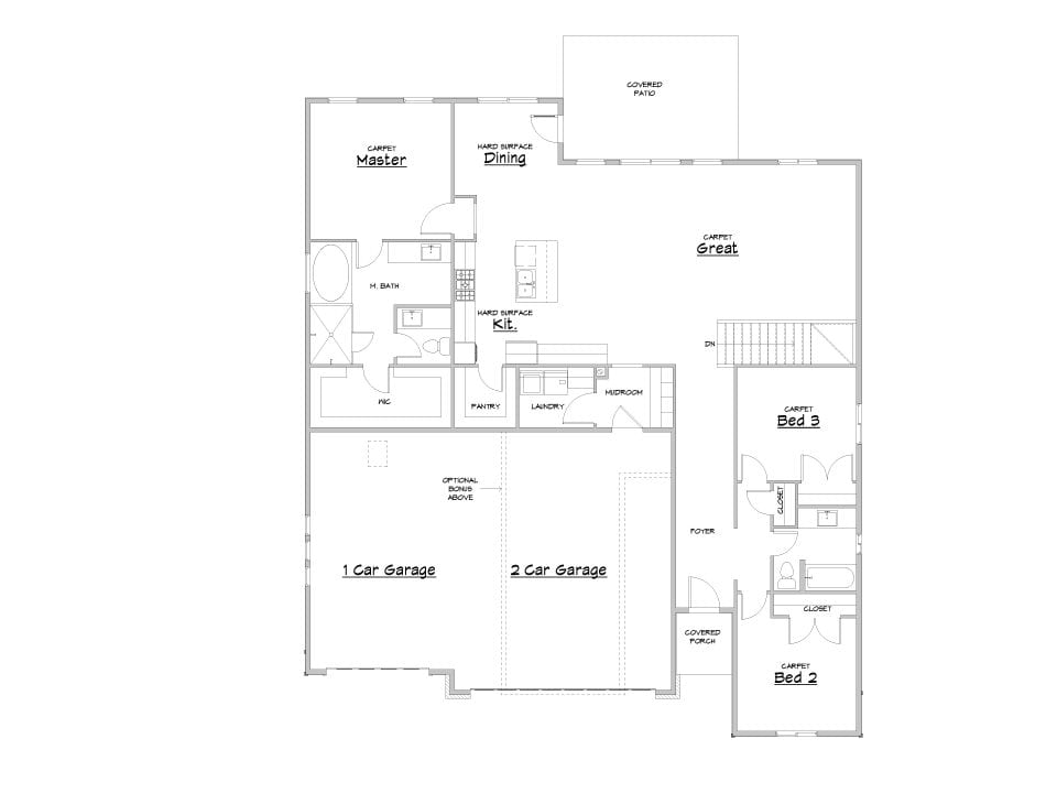 durham house plan floor plan