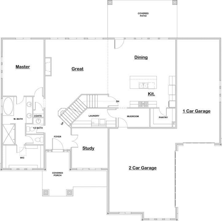grays harbor house plan floor plan
