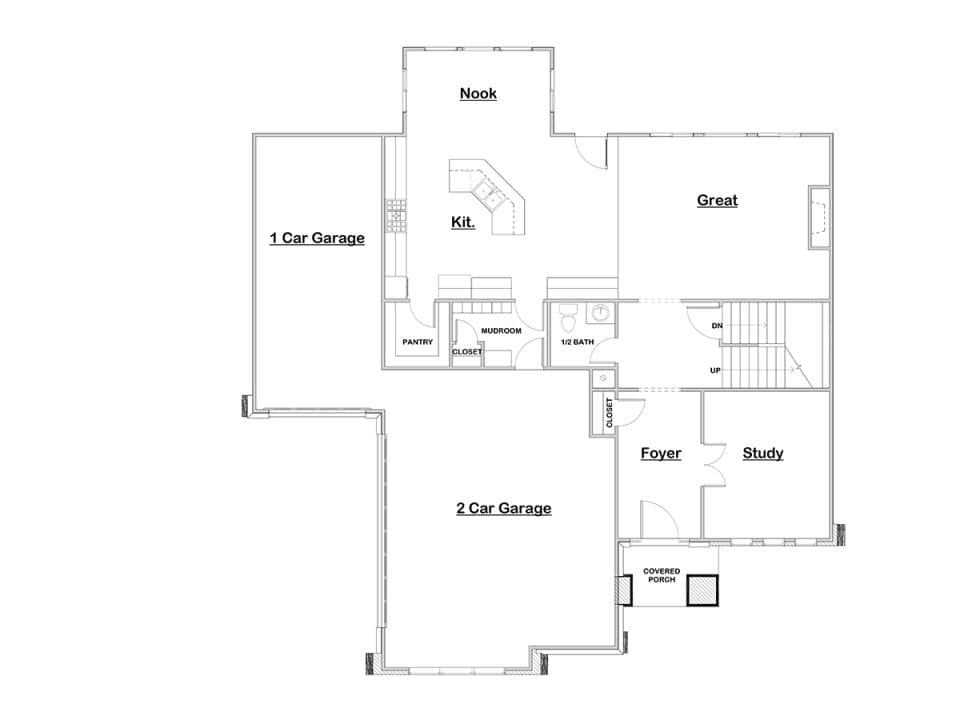 pasadena house plan floor plan