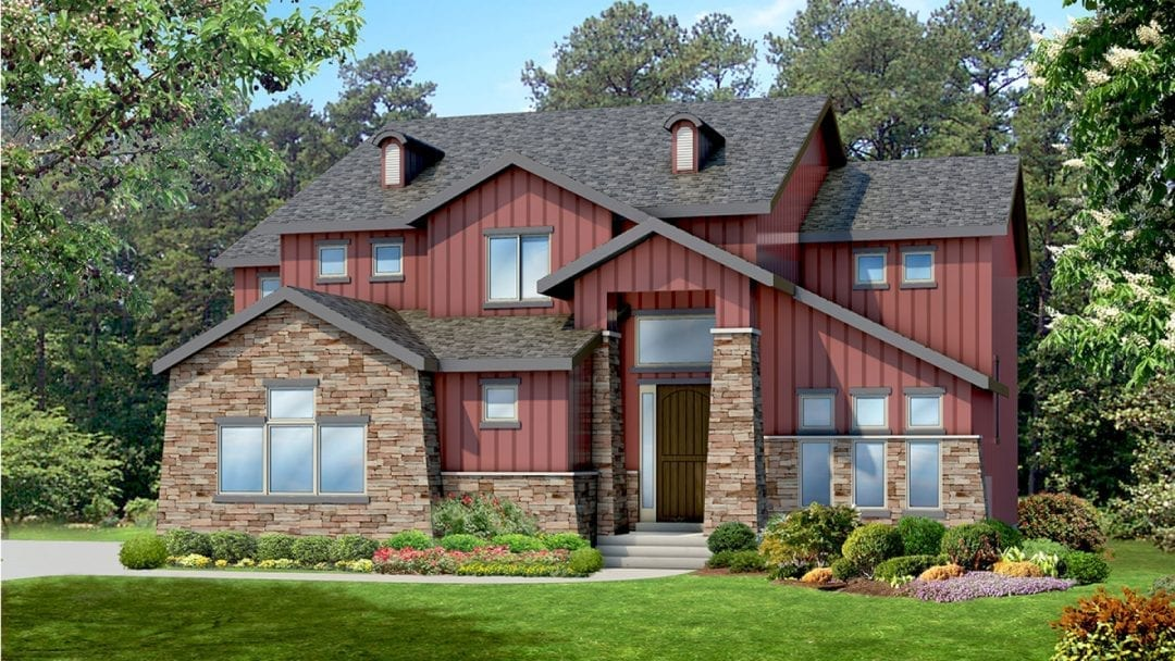 pasadena craftsman house plan 3d rendering
