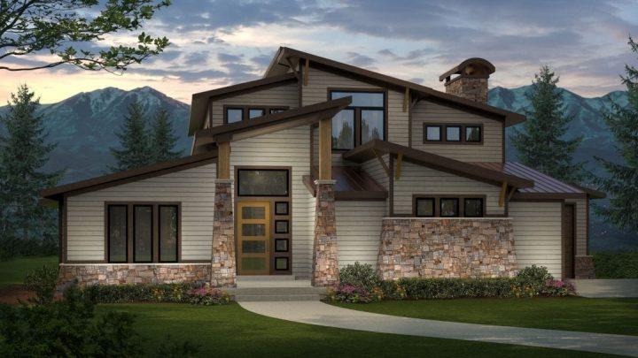 scotts bluff mt. modern house plan 3d rendering