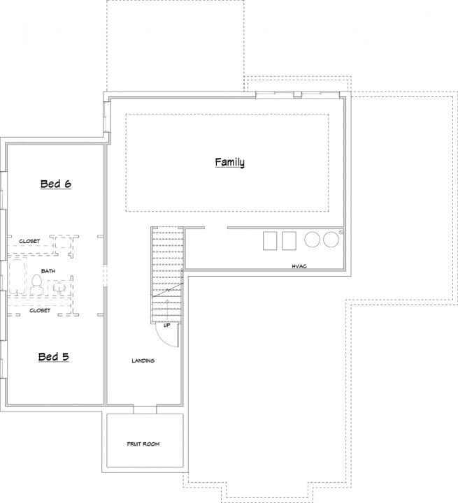 hillside house plan floor plan