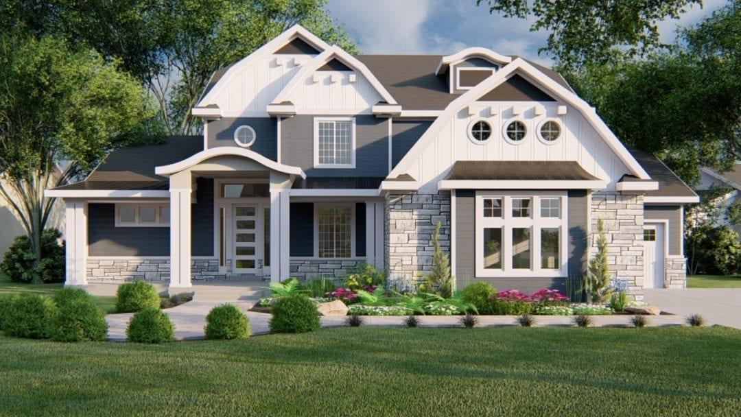newgate hampton house plan 3d rendering
