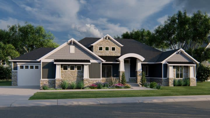 Northridge Craftsman Rendering