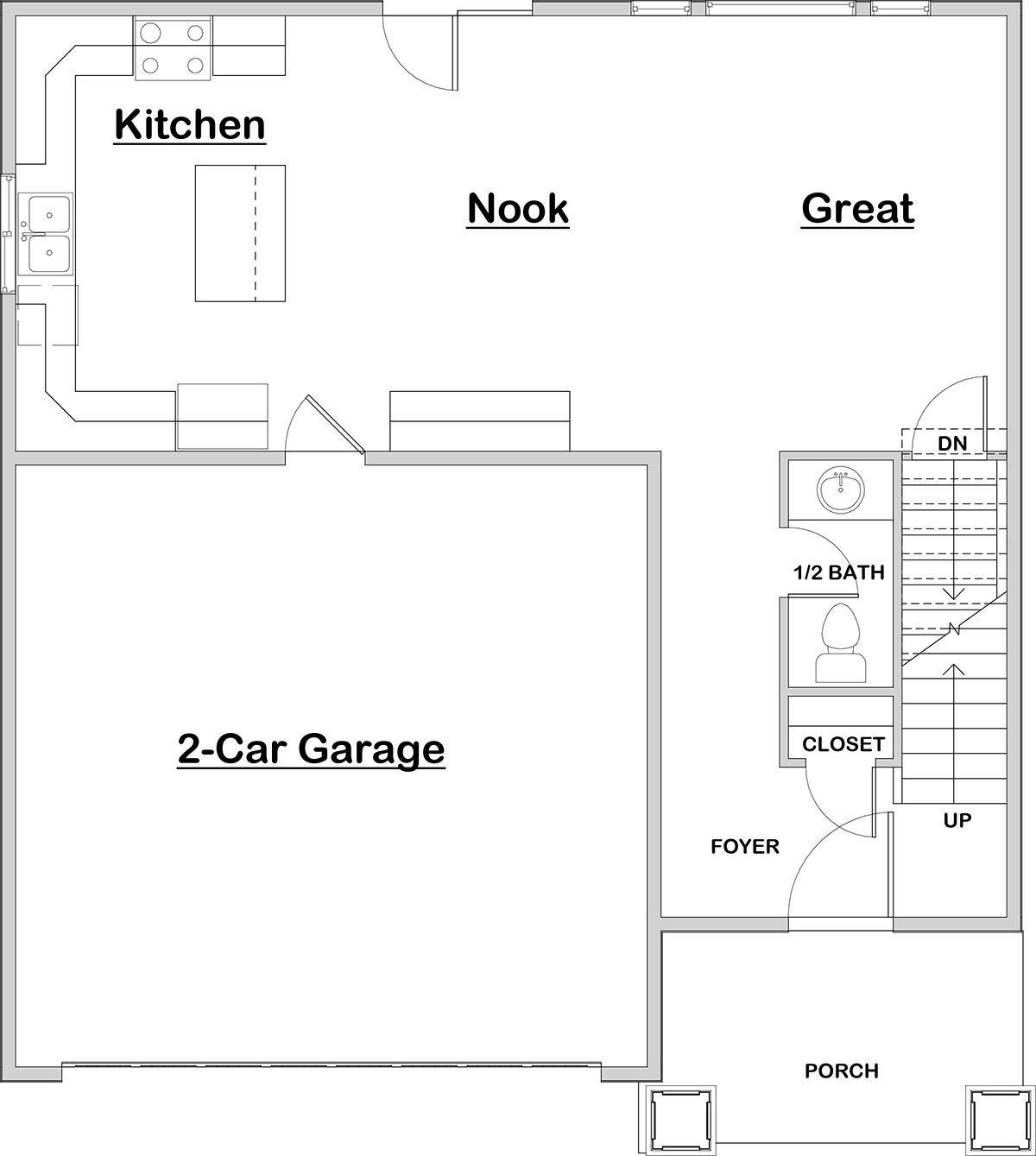 Jastin Main Floor House Plan