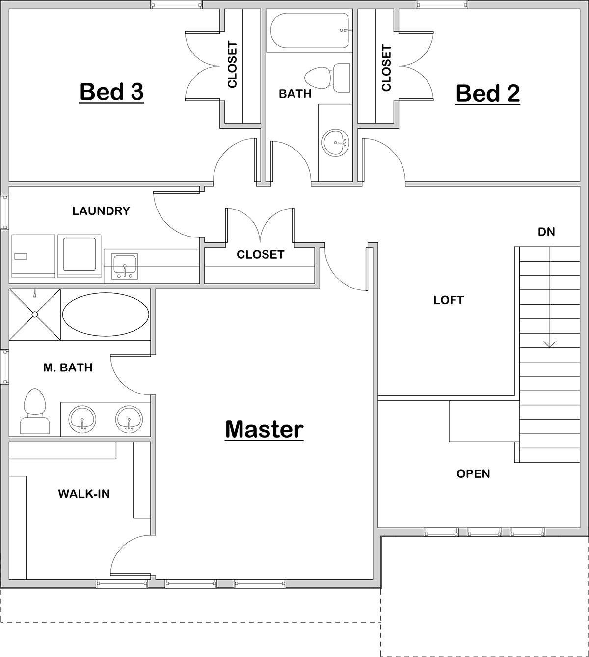 Jastin Upper Floor House Plan