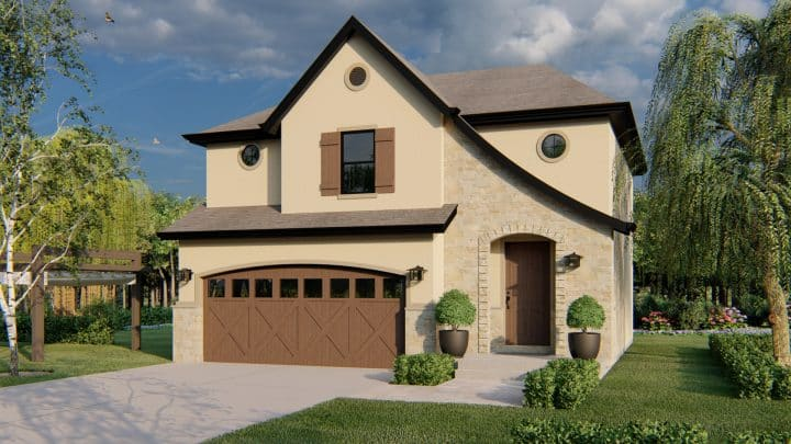 Jastin House Plan French Country Rendering