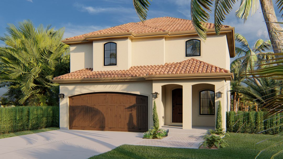 Jastin House Plan Mediterranean Rendering