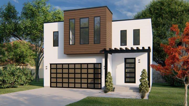 Jastin House Plan Modern Rendering