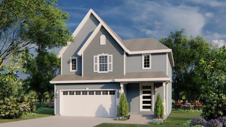 Jastin House Plan Victorian Rendering