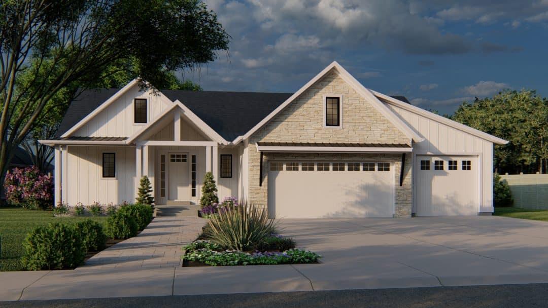 Stillwater Craftsman House Plan Modern Rendering