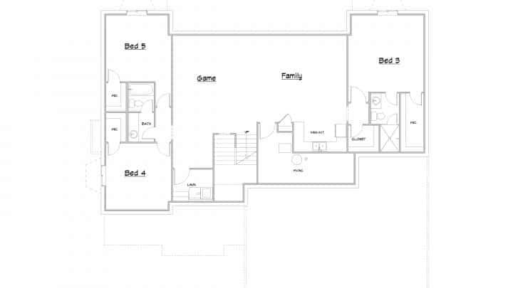 Stillwater Basement Floor House Plan