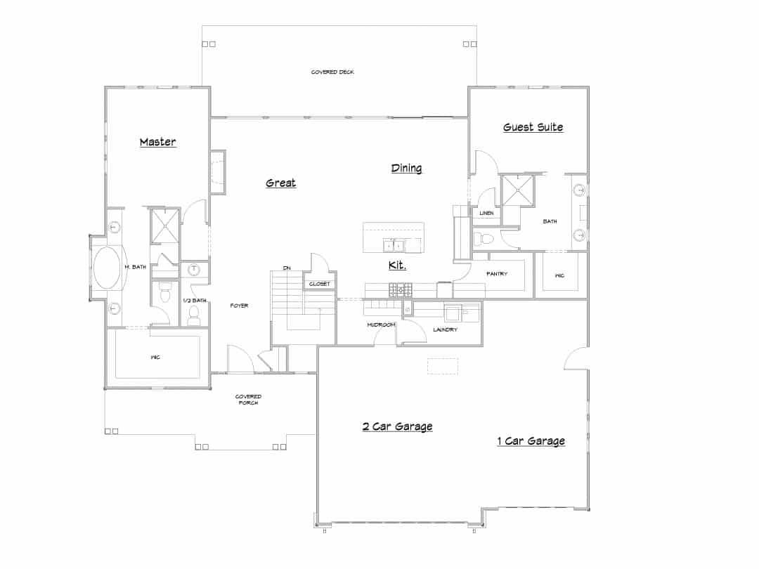 Stillwater Main Floor House Plan