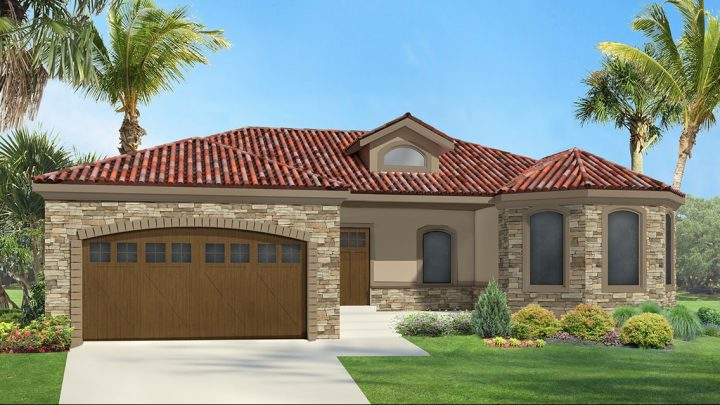allison mediterranean house plan 3d rendering