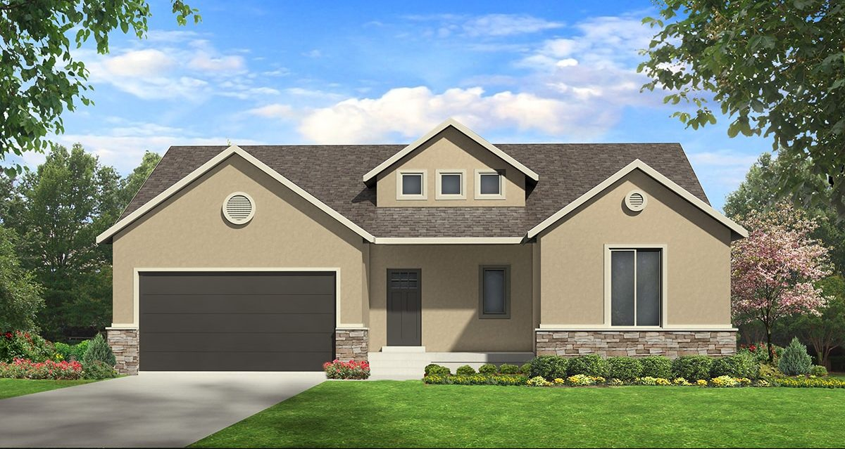 allison traditional house plan 3d rendering