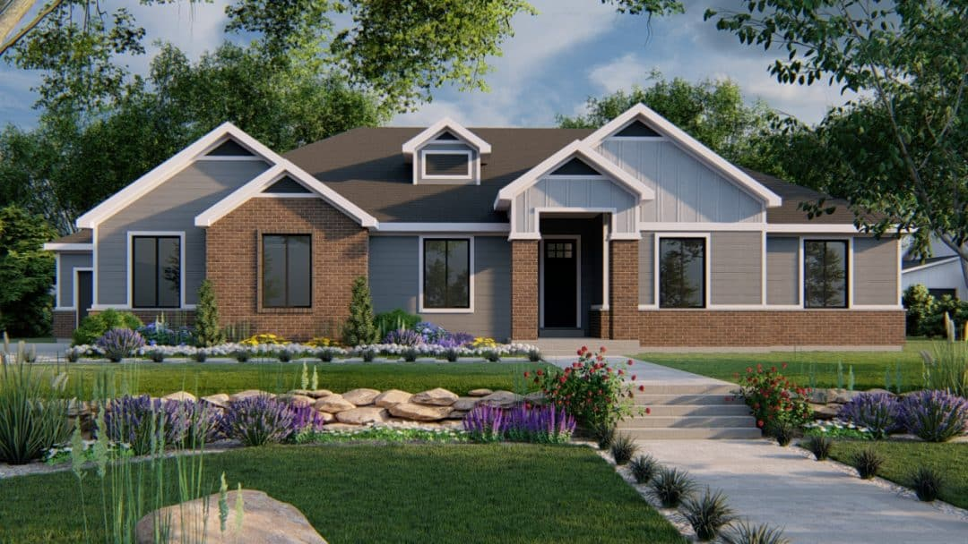 beacon hill traditional house plan 3d rendering