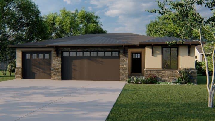 durham prairie house plan 3d rendering