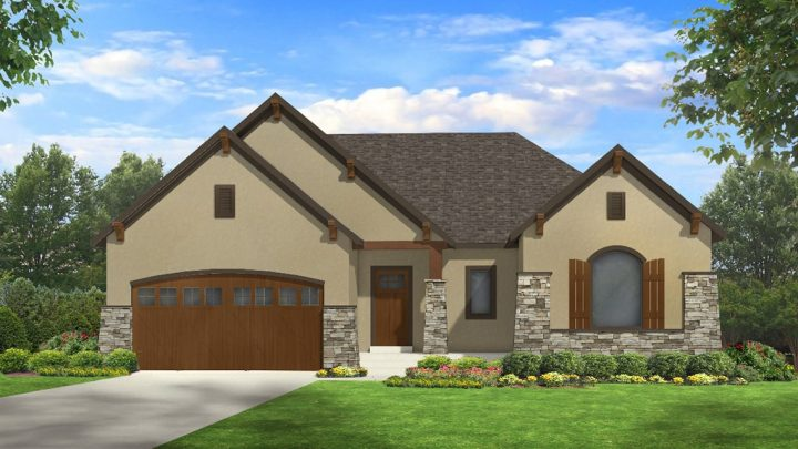 allison mt. rustic house plan 3d rendering