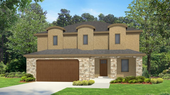 newton mediterranean house plan 3d rendering
