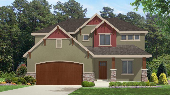newton mt. rustic house plan 3d rendering