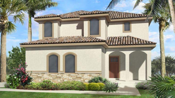 nicholas mediterranean house plan 3d rendering