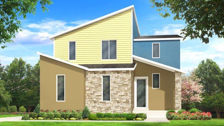 nicholas modern house plan 3d rendering