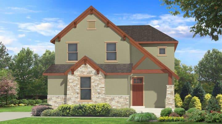 nicholas mt. rustic house plan 3d rendering
