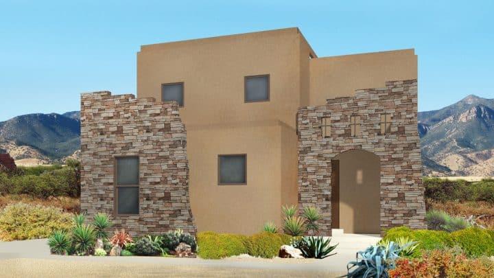 nicholas southwestern house plan 3d rendering