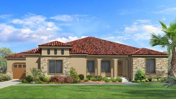 red deer mediterranean house plan 3d rendering