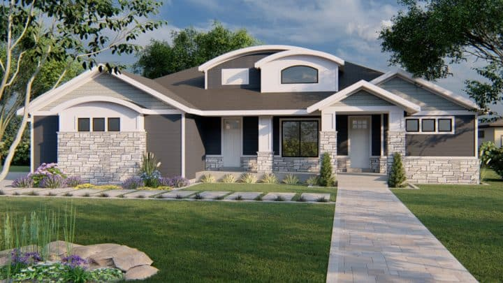 winchester craftsman house plan 3d rendering